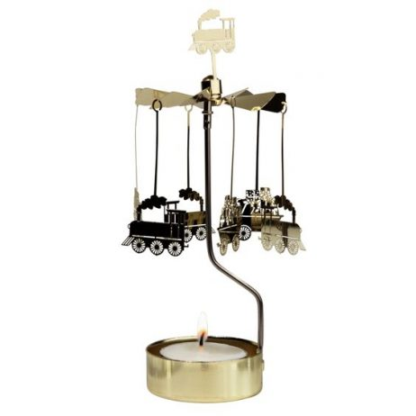 Train Rotary Tealight Candle Holder