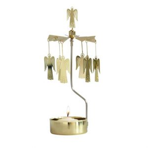 Gold Angel Rotary Tealight Candle Holder