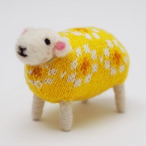 Daffodil Handmade Sheep by Mary Kilvert