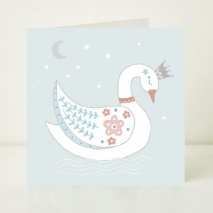 Swan Princess Greeting Card