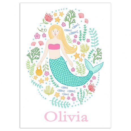 Personalised Mermaid Print
