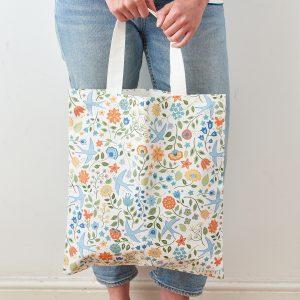 Summer Swallows Bag in Cotton Canvas - Mary Kilvert