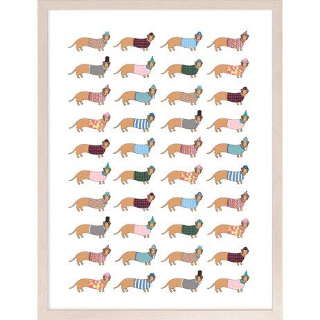 Larry the Long Dog Fine Art Print by Mary Kilvert