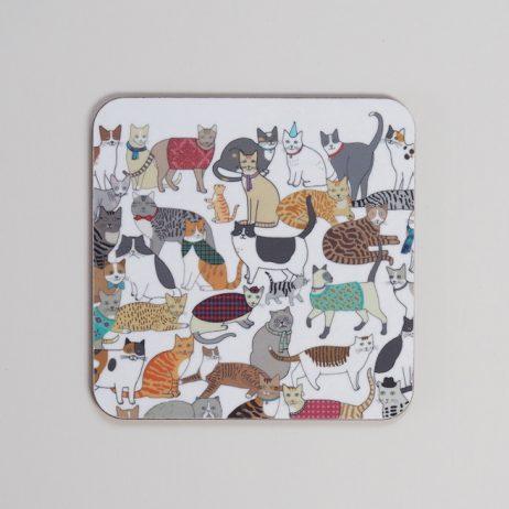 Crafty Cats Coaster by Mary Kilvert