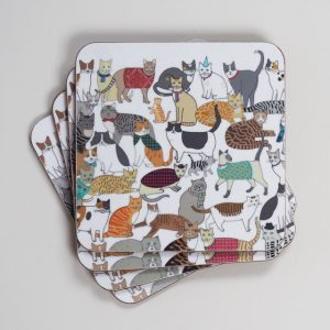 Crafty Cats Coasters by Mary Kilvert