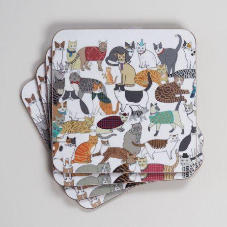 Crafty Cats Coasters by Mary Kilvert