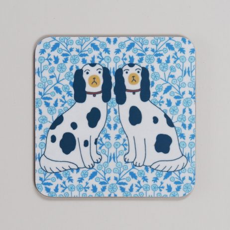 Staffordshire Dogs Coaster by Mary Kilvert