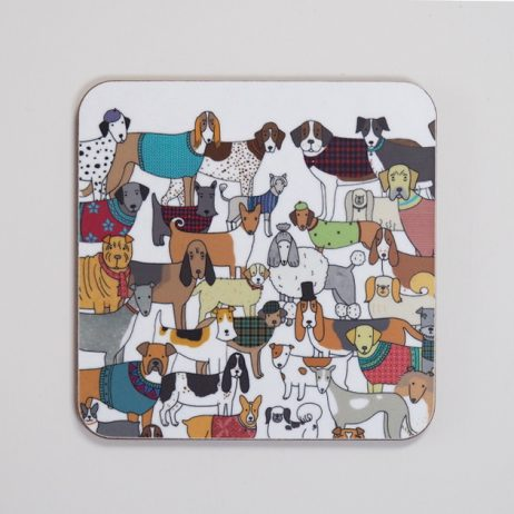 Pack of Proud Pooches Coaster by Mary Kilvert