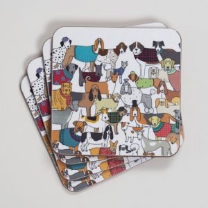 Pack of Proud Pooches Coasters by Mary Kilvert
