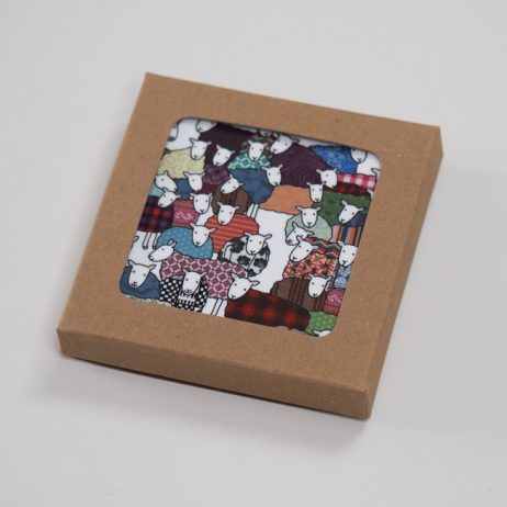 Colourful Sheep Coasters by Mary Kilvert