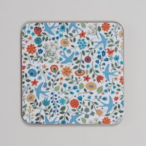 Summer Swallows Coaster by Mary Kilvert
