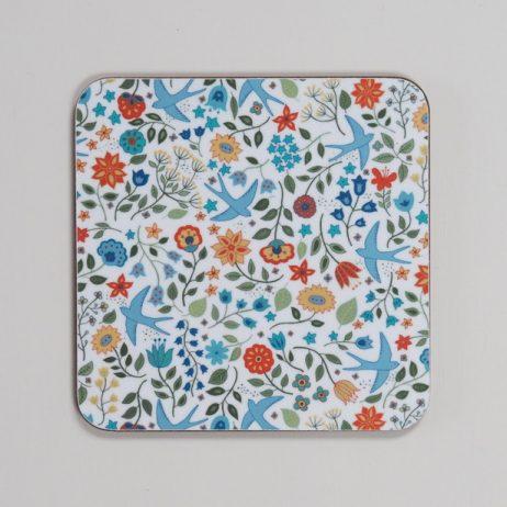 Summer Swallows Coaster by Mary Kilvert