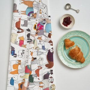 Pack of Proud Pooches Tea Towel by Mary Kilvert
