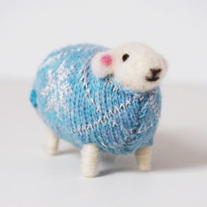 Snowflake Felted Sheep by Mary Kilvert