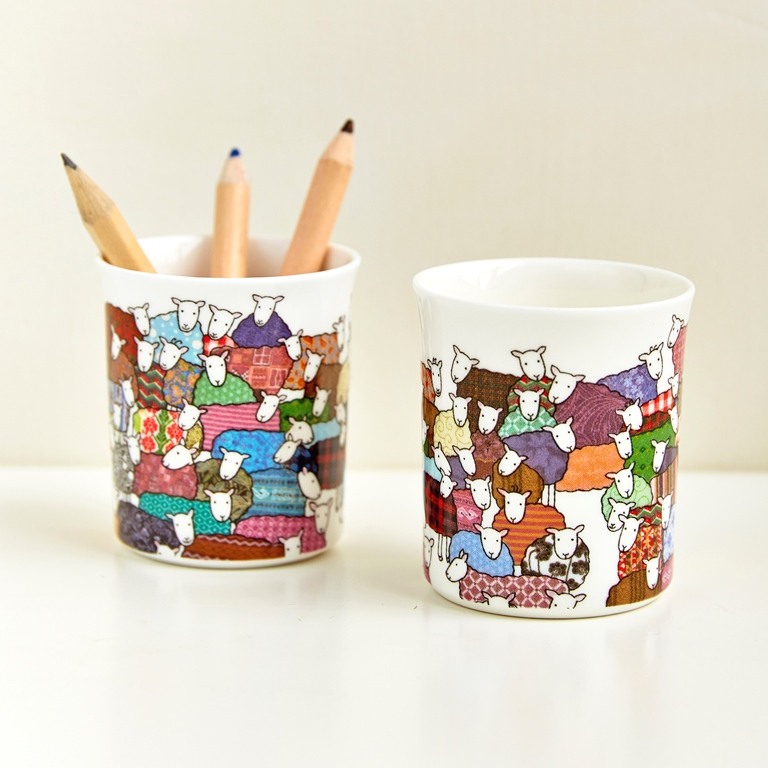 Colourful Sheep Little Pots by Mary Kivert