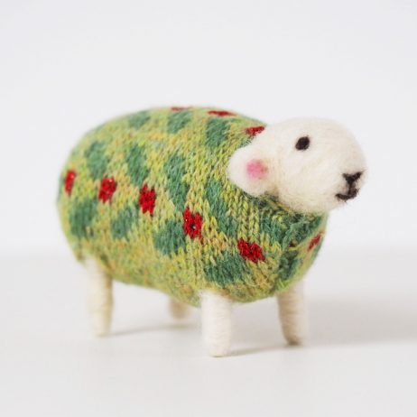 Holly Felted Sheep by Mary Kilvert