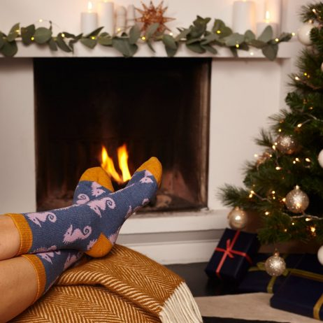 Lambswool Lilac Seahorse Ankle Socks by Catherine Tough
