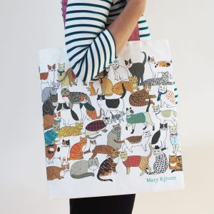 Crafty Cats Bag in Cotton Canvas - Mary Kilvert