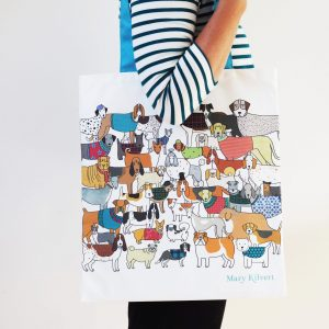 Pack of Proud Pooches Bag in Cotton Canvas - Mary Kilvert