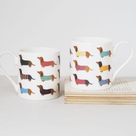 Dashing Dachshund Mug by Mary Kilvert