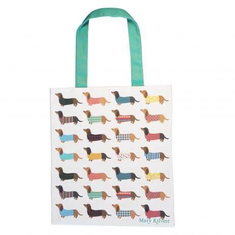 Dashing Dachshund Bag in Cotton Canvas - Mary Kilvert
