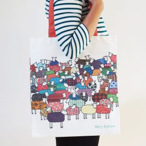 Colourful Sheep Bag in Cotton Canvas - Mary Kilvert