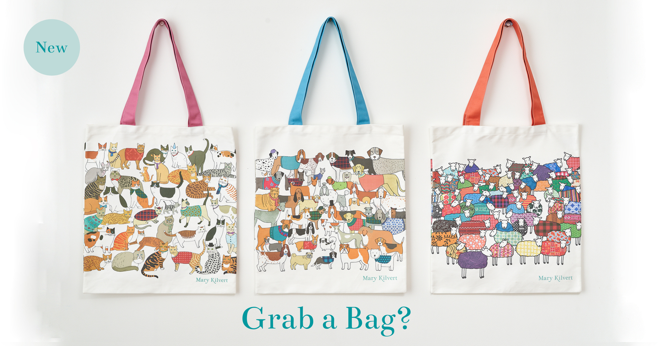 Illustrated Canvas Bags - Mary Kilvert