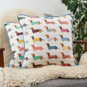 Dashing Dachshund Cushion - Mary Kilvert