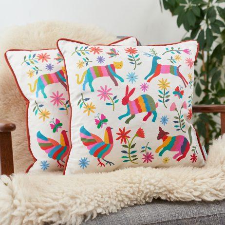 Otomi Animals Cushion - Mary Kilvert