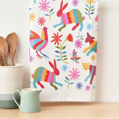 Otomi Animals Tea Towel - Mary Kilvert