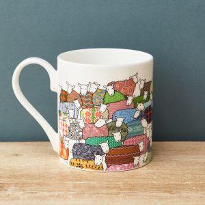Colourful Sheep Mug - Mary Kilvert