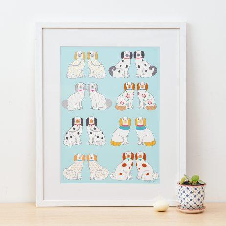 China Dogs Fine Art Print by Mary Kilvert