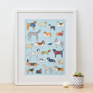Dog Pattern Fine Art Print by Mary Kilvert