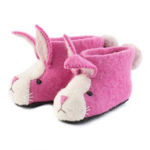 Rosie Rabbit Felted Slippers for Children