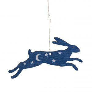 Magic Hare Wooden Decoration