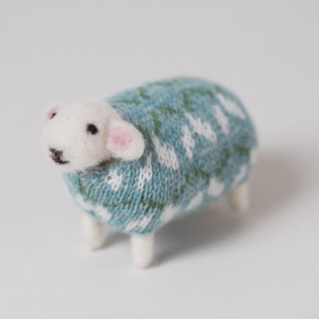 Snowdrop Felted Sheep by Mary Kilvert